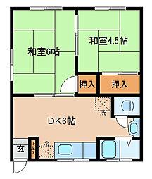 正木マンション[2F南号室]の間取り