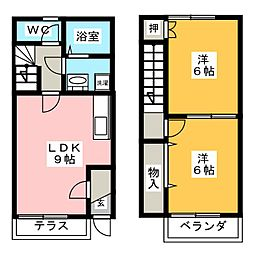 [テラスハウス] 愛知県刈谷市重原本町2丁目 の賃貸【愛知県 / 刈谷市】の間取り