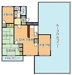 エメラルドマンション東大谷[403号室]の間取り
