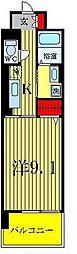 ライツェント ヴォ−ネン[4階]の間取り