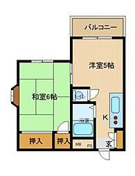 ハイツ武庫川[203号室]の間取り