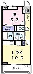 サニーレジデンス稲田本町[207号室号室]の間取り