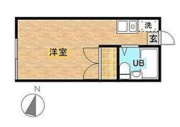 コーポ東六郷 bt[2階]の間取り
