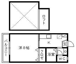 静岡県浜松市中区曳馬1丁目の賃貸マンションの間取り