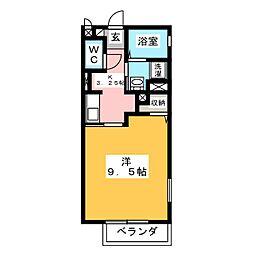 インフィニティ.M[1階]の間取り
