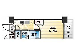 Osaka Metro堺筋線 恵美須町駅 徒歩5分の賃貸マンション 2階1Kの間取り