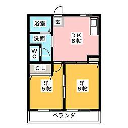 ひまわり[1階]の間取り