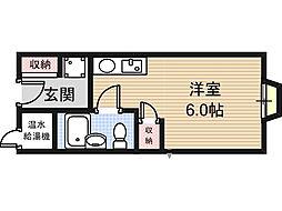 アリタマンション長瀬[4階]の間取り
