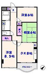 マンション第二青山[305号室]の間取り