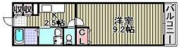 コスモ・キューブ[201号室]の間取り
