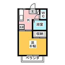 メゾンドベル II[2階]の間取り