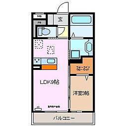 仮)D-room伊倉[1階]の間取り