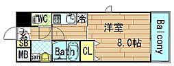OAK弥栄[7階]の間取り