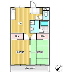 キャッスルヨシカワA[2階]の間取り