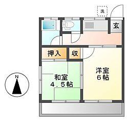 神奈川県川崎市宮前区馬絹1丁目の賃貸アパートの間取り