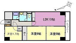 チュリス広島[9階]の間取り