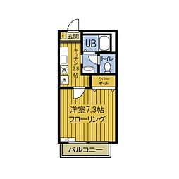 東京都板橋区東山町の賃貸アパートの間取り