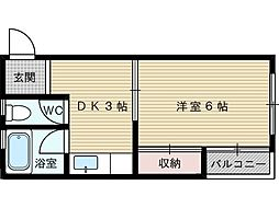 ハウスコーラル[4階]の間取り