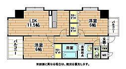 ヒット砂津BLD[10階]の間取り