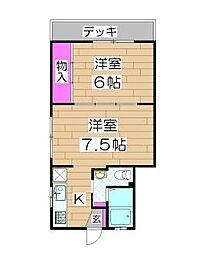 山口ホーム矢部[1階]の間取り