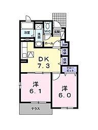 キュート[1階]の間取り
