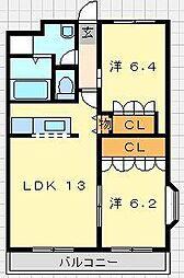 サンシャイン2号館[2階]の間取り
