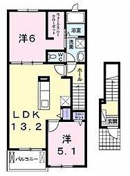 ル ベール II[2階]の間取り