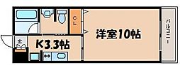 JRBハイツ1番館[3階]の間取り