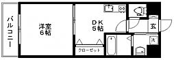 ルネッサンス21久留米六ツ門[E1402号室]の間取り