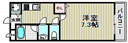 グランソレイユK&J壱番館[2階]の間取り