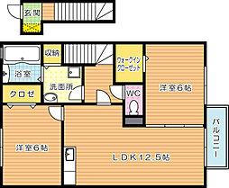 エデンナC[2階]の間取り