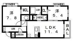 仮)シャーメゾン宮町1丁目計画[303号室号室]の間取り
