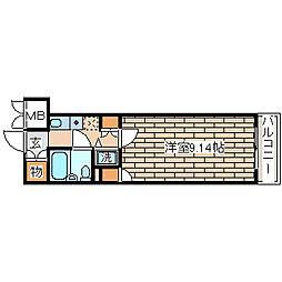 兵庫県神戸市長田区大橋町4丁目の賃貸マンションの間取り