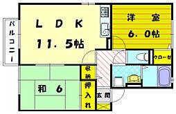 カンパーニュ平井[2階]の間取り