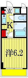 ラ・コート・ドール津田沼[6階]の間取り