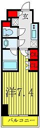 JR山手線 巣鴨駅 徒歩8分の賃貸マンション 7階1Kの間取り