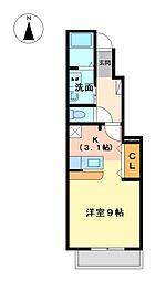 愛知県名古屋市中川区一色新町1丁目の賃貸アパートの間取り