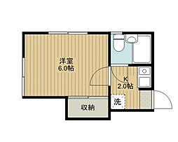東栄コーポ[201号室号室]の間取り