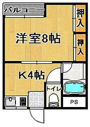 メゾン澤田[2階]の間取り