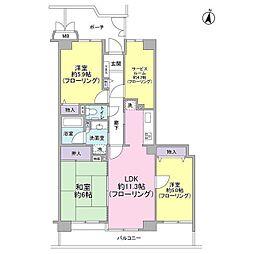 東急ドエル・アルス南浦和[3階]の間取り