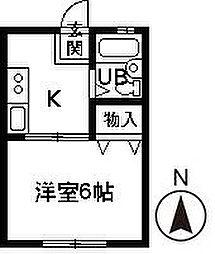 サンシティ江田[A103号室]の間取り