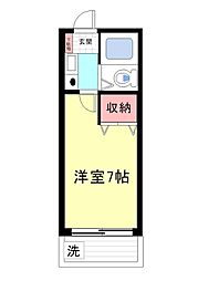 シャルムメゾン六甲道[604号室]の間取り