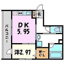 SKレジデンス立花[5階]の間取り