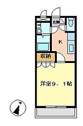 コーポ彩舞蘭[205号室]の間取り