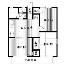 東京都練馬区氷川台の賃貸アパートの間取り