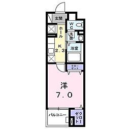 カームシティYASUDAIII[404号室]の間取り