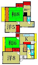 東堀切1丁目テラス 1階4SKの間取り