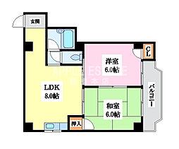 ロイヤル丸文II[4階]の間取り