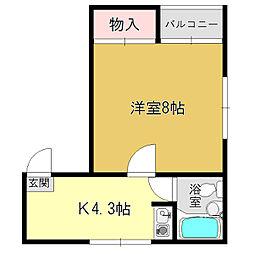 みすずコーポ2[2階]の間取り