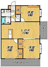 アベニールKAI[3階]の間取り
